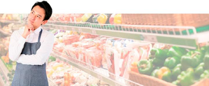 画像:スーパーの店員が困っている様子